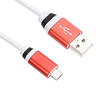 100CM Micro USB Aluminum Cable for HTC/Xiaomi/Huawei(Purple,Blue,Silver,Red)