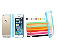 XUNDD  Plastic Fresh Color Bumper Frame Transparent Back Cover for iPhone 6(Assorted Color)