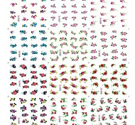 12 Sheets Different Style Flower Pattern Water Transfer Nail Stickers Decals DIY