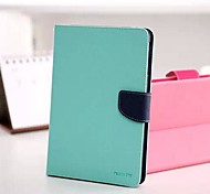 Mint And Dark Blue Color Matching PU Leather Full Body Case Cover for iPad Air 2