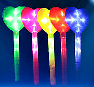 Large Shining Heart Glow Stick PVC Kids' Halloween Party Accessories
