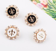 European and American Style Fashion  Pearl Flower Earring