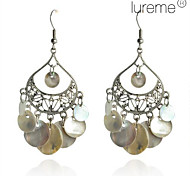 Lureme®Water Droplet Shell Earrings