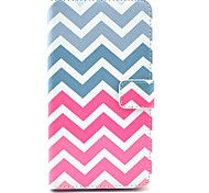 Pink Wave Pattern PU Leather Case with Stand Card Holder for Samsung Galaxy Note 3 N9000