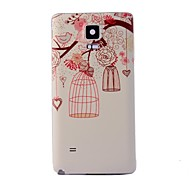Eye Pattern Back Frame Back Case for Samsung Galaxy Note 4