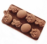 8 отверстие кролика форма пасхальное яйцо торт плесень льда желе формы шоколада