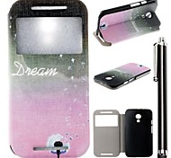 Dandelion Star Pattern PU Leather Full Body Case with Stand and A Stylus Touch Pen for Motorola G2