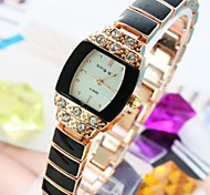 Women's Diamond Square Dial Alloy Band Quartz Bracelet Watch (Assorted Colors) Cool Watches Unique Watches