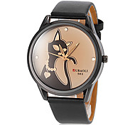Women's Cat Pattern Dial PU Band Quartz Wrist Watch (Assorted Colors) Cool Watches Unique Watches