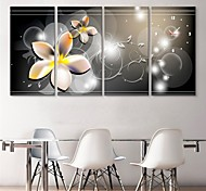 E-HOME® Flower Clock in Canvas 4pcs