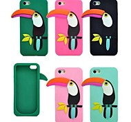 The New Fashion Woodpecker Silicone Soft Cover for iPhone 4/4S(Assorted Colors)