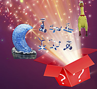 3pcs Christmas Lucky Bag--3D Puzzles,Solar Powered Gadgets,Stress Relievers(Random Pattern)
