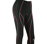 OUTTO Women's Bike 3/4 Pants Compression Breathable Padded Lycra Breathable Quick Dry