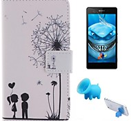 Couples Dandelion Pattern PU Leather Full Body Case for Sony Xperia M2 S50h