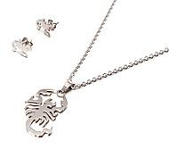 Fashion Scorpion Shape Silver Stainless Steel Jewelry Set(1 Set)
