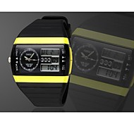 Men's Black Round Dial Silicone Band Japan Movement Fashion Diving Sport Watch Wristwatch Cool Watch Unique Watch