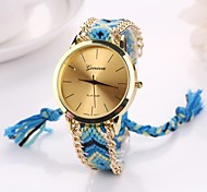 Women Big Circle Dial  National Hand Knitting Brand Luxury Lady Watch C&D-282 Cool Watches Unique Watches