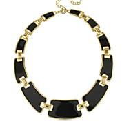 Punk Style Luxurious Enamel Statement Necklace (1 pc, Black / Dark Blue / Light Blue)