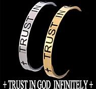 u7® cruz cristiana pulsera de acero inoxidable 316l versículo de la Biblia