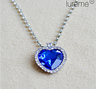 Lureme®Titanic Ocean Blue Love Pendant Necklace