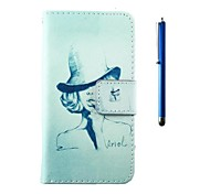 4.95 Inch Hat Pattern PU Wallet Leather Case and Pen for LG Nexus 5