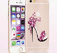Fashion High Heels PC Transparent Hard Case for iPhone 6