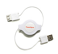 1.2M 3.936FT USB2.0 Male to Female Spring USB2.0 Computer Charging Extension Cable