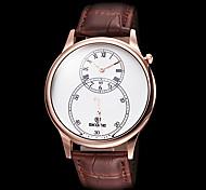 relógio de couro clássico relógio banda quartzo moda feminina (cores sortidas)