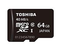 classe 64gb toshiba 10 UHS-1 micro SDHC cartão de memória SDXC 40mb / s