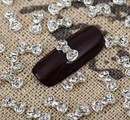 10pcs 3d cristal brilhante do arco decoração de unhas liga de jóias brilhante manicure jóias