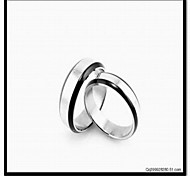 Fashion Silver Plated 316L Stainless Steel Couple Ring