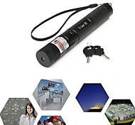 LT-YW111 Zoom Light Match Lockable Green Laser Pointer(5MW,532nm,1x18650,Black)