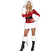 Red Top with Black or White Skirt Adult Christmas Woman's Costume