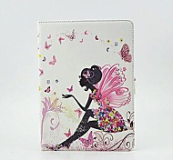 Butterfly Girl Tablet Protect Case with Stand for iPad Air 2