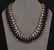 Exaggerated Fashion Chain Diamond Necklace