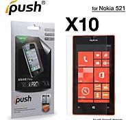 protetor de tela LCD HD de alta transparência para Nokia 521 (10 peças)