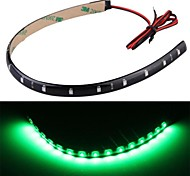 4pcs Auto LED-Streifen wasserdicht 12V grünes Licht 30cm 15 LED Neon flexible Streifen bar Auto LKWs
