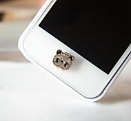 1Pcs Cute Little Panda Rhinestone 1cm Buttons Stickers for iPhone and Others