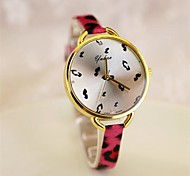 Womens'  Fashion Leopard Print Dress  Leather  Watch   Circular High quality Japanese watch movement(Assorted Colors)