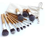 11 Set di pennelli Capelli sintetici Viso / Labbro / Occhi Altro
