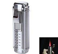 4705 Stylish Four-Flame Flashlight Style Zinc Alloy Windproof Butane Gas Lighter(Assorted Colors)