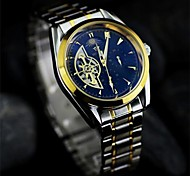 Men's  Double hollow Boutique Watch  Circular steel mechanical watch  Automatic mechanical watches    (Assorted Colors)