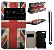 The Union Jack Pattern PU Leather Full Body Case with Stand and A Stylus Touch Pen for  Sony Xperia E3 D2203 D2206