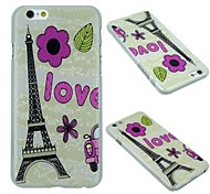 Flowers of Eiffel Tower Pattern PC Hard Protective Shell Case for iPhone 6