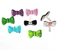 Crystal Bow 3.5 MM  Earphone Jack for iPhone/Samsung and iPad(Random Color)
