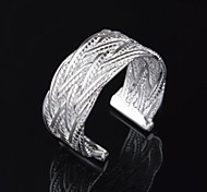 Woman's Fashion Silver Net Wave Adjustable  Ring