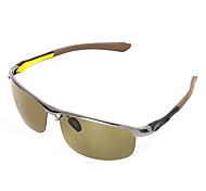 Polarized Men's Rectangle Aluminum Lightweight Driving Sunglasses