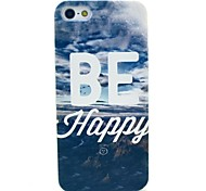 Be Happy View Pattern Hard Cover Case for iPhone 5C