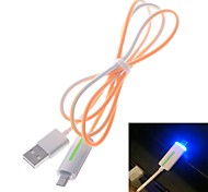 100cm Ultra-thin Lighting USB Data and Charging Cable for Sony and Others