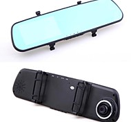 """4.3 """"touch androide 4.0 gps retrovisor fm wifi navegación FHD 1080p doble lente coche de la rociada dvr"""